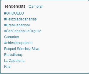 Trending Topic Canarias